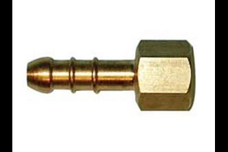 Messing slangpilaar/binnendraad 1/4 inch binnendraad links, 8 mm