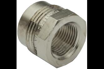 Gastec koppeling recht 1/2 inch buitendraad, M24 binnendraad