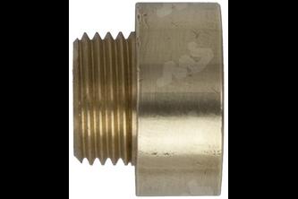Neusstuk messing 3/8 inch buitendraad, 1/2 inch binnendraad