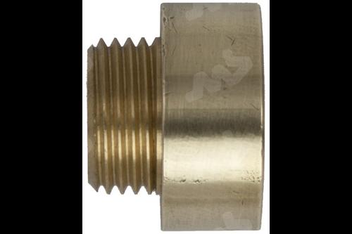 Neusstuk messing - 1 inch binnendraad, 3/4 inch buitendraad 3/8 inch buitendraad, 1/2 inch binnendraad