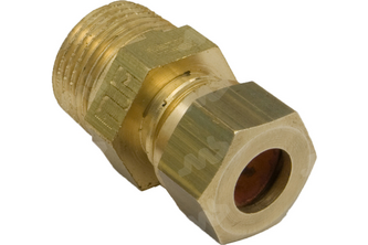 Rechte koppeling messing knel / buitendraad 1/8 inch buitendraad, 8 mm