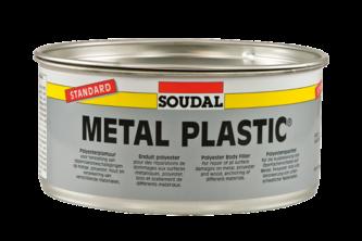 Soudal Polyester Plamuur Metal Plastic 2 KG, Blik + verharder