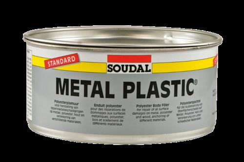 Soudal polyester plamuur metal plastic 1 kg, blik + verharder