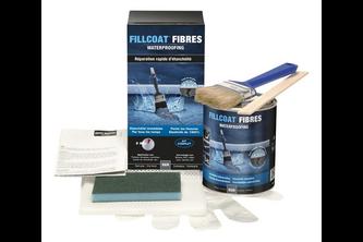 Mathys Fillcoat Vezels Waterproofing Reparatiekit 1 L, DONKERGRIJS, set