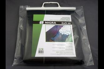 Hwtc Nigra gronddoek 2x5 m,  , 80 gr./m², zwart