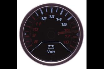 AutoStyle Performance Instrument zwart 2 inch Voltage LED