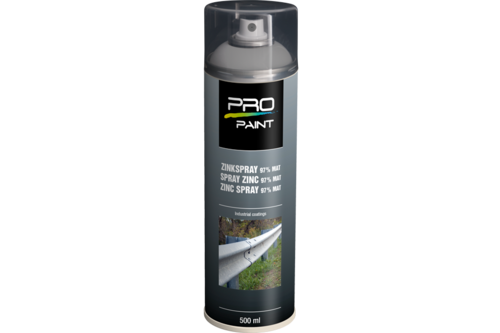 Pro-paint zinkspray 97% 500 ml, 97% mat
