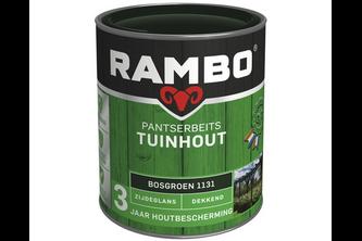Rambo Pantserbeits Tuinhout Zijdeglans Dekkend 750 ML, RIJTUIGGROEN, 1127