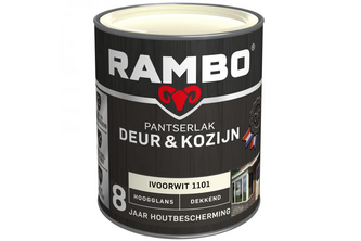RAMBO Pantserlak Deur & Kozijn Hoogglans Dekkend 750 ML, WIT, 1100