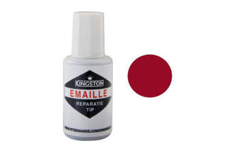 Kingston Emaille Reparatie Tip 20 ML, ROBIJNROOD, RAL 3003, Flacon + kwast