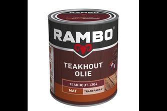 Rambo Teak Olie Transparant /, 2,5 L, Transparant