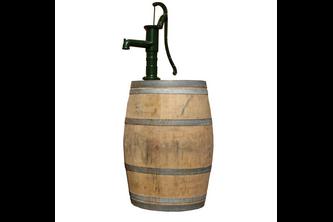 Garantia Regenton met waterpomp 200 Liter Kastanje