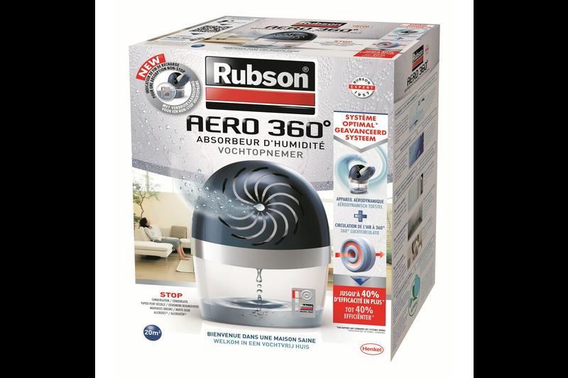 rubson aero 360 vochtopnemer bestel je vochtregulering bij werken met merken. Black Bedroom Furniture Sets. Home Design Ideas