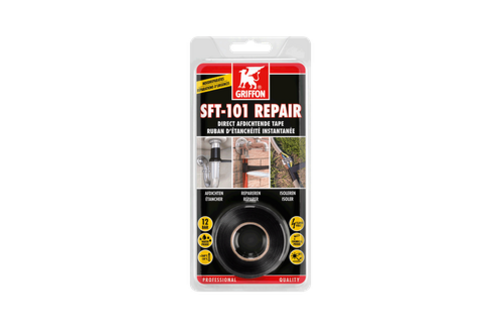 Griffon sft-101 repair 25 mm x 3 m, zwart, rol (blister)