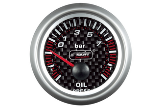 Simoni Racing Analoog Instrument oliedruk 52mm Carbon