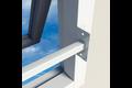 Secubar raambeveiliging stalen barrière stangen uitschuifbaar ral9010 wit epoxy, 100-180 cm, single  – bovenlicht, klapraam