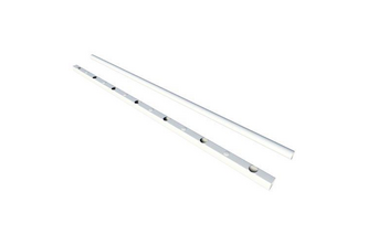 SecuBar Stalen Lichtkoepelbeveiliging Fix & Go - 8 spijls  set 1,5m (rail) x 1m (buis), RAL9010 wit epoxy, 1500 x 1000 mm