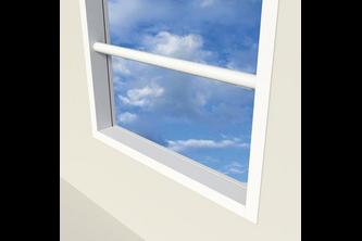 SecuGuard Doorvalbeveiliging Classic ø 40 x 4 mm - Doorvalbeveiliging ø40x4mm op de dag, Wit RAL 9010, 1500 mm