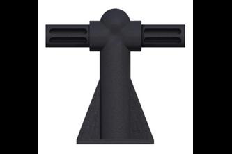 SecuMax Anti-Klimstrip Pro steun Zwart, 1 Stuk