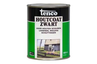Tenco Houtcoat Zwart 1 L,