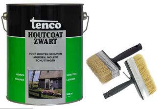 Tenco Houtcoat inclusief set brede kwasten