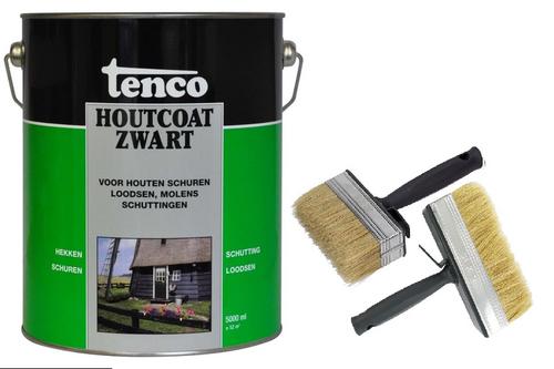 Tenco houtcoat inclusief set brede kwasten 5 l