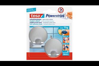 Tesa Powerstrips small metaal rond