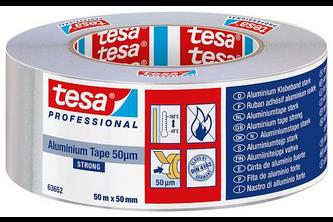 Tesa Professional Aluminium Tape Strong 75 mm x 50 meter, ALUMINIUM