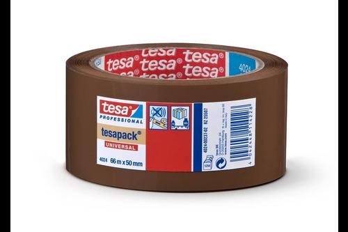 Tesa professional verpakkingstape pp comfort 50 mm x 66 meter, bruin