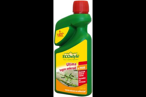 Ecostyle ultima tegen onkruid & mos 510 ml – concentraat,