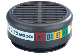 Moldex 8900 Gasfilter A1B1E1K1  voor serie 8000 2 STUKS