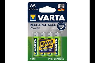 Varta AA batterijen Recharge Accu Power 2100mAh