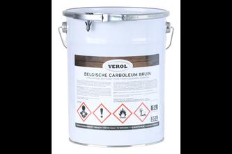 Verol Carboleum Bruin 5 L, Bruin