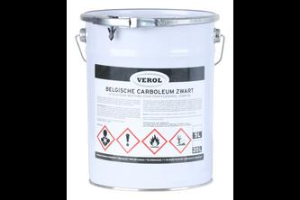 Verol Carboleum Zwart 5 L, Zwart