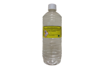 Alcohol 96% met 5% Methanol 1 L, TRANSPARANT, FLES