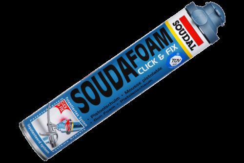 Soudal soudafoam click & fix 750 ml, champagne, bus