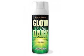 Rust-Oleum Glow In The Dark Spuitverf 400 ML, Green / Yellow Fluorescent Finish, Spuitbus