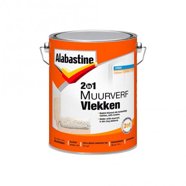 Afbeelding van Alabastine 2 in 1 muurverf vlekken 2,5 l, blik