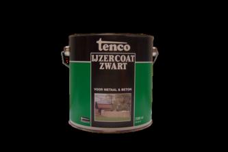 Tenco IJzercoat Zwart 2,5 LTR, ZWART,  , BUS