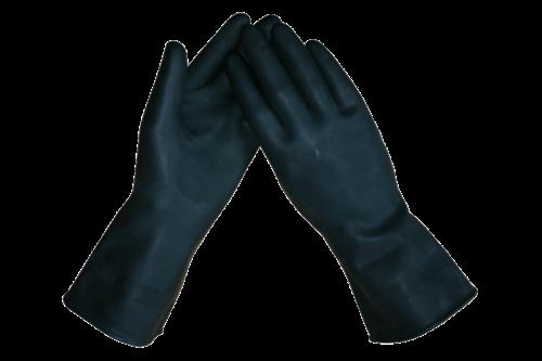Marigold industrial marigold ansell black heavyweight g17k alphatec 87-118 handschoen large