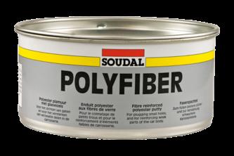 Soudal Polyfiber 1,5 KG, Grijs, Blik + verharder