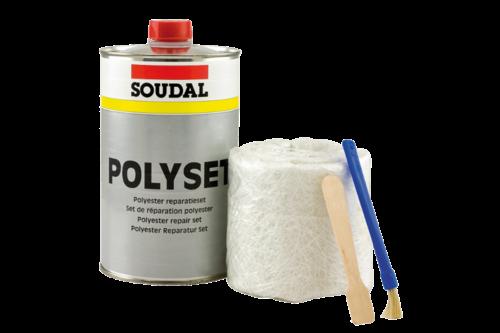 Soudal polyester reparatieset 250 ml, set
