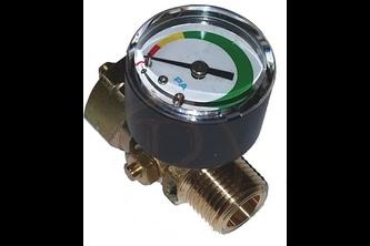 Stop gas met manometer, doorstroombegrenzer en thermisch beveiligd