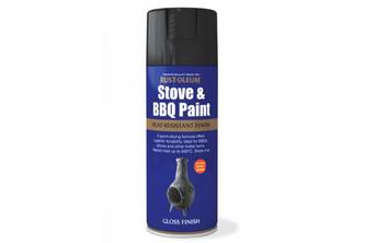 Rust-Oleum Stove & BBQ Paint Mat, 400 ML, Zwart, Spuitbus